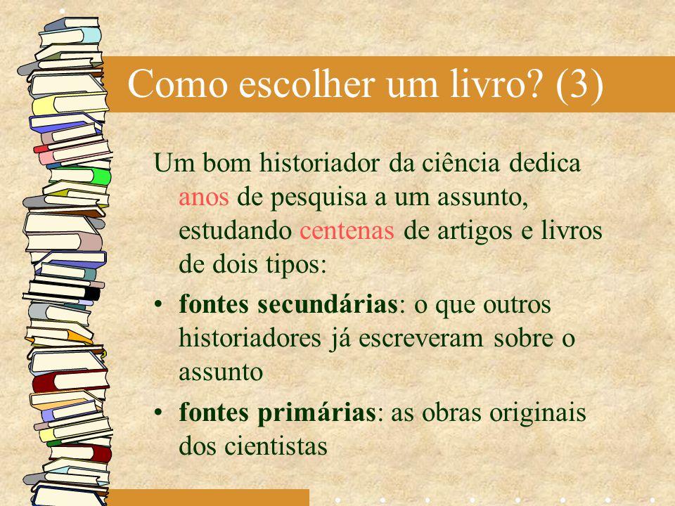Como escolher um livro (3)