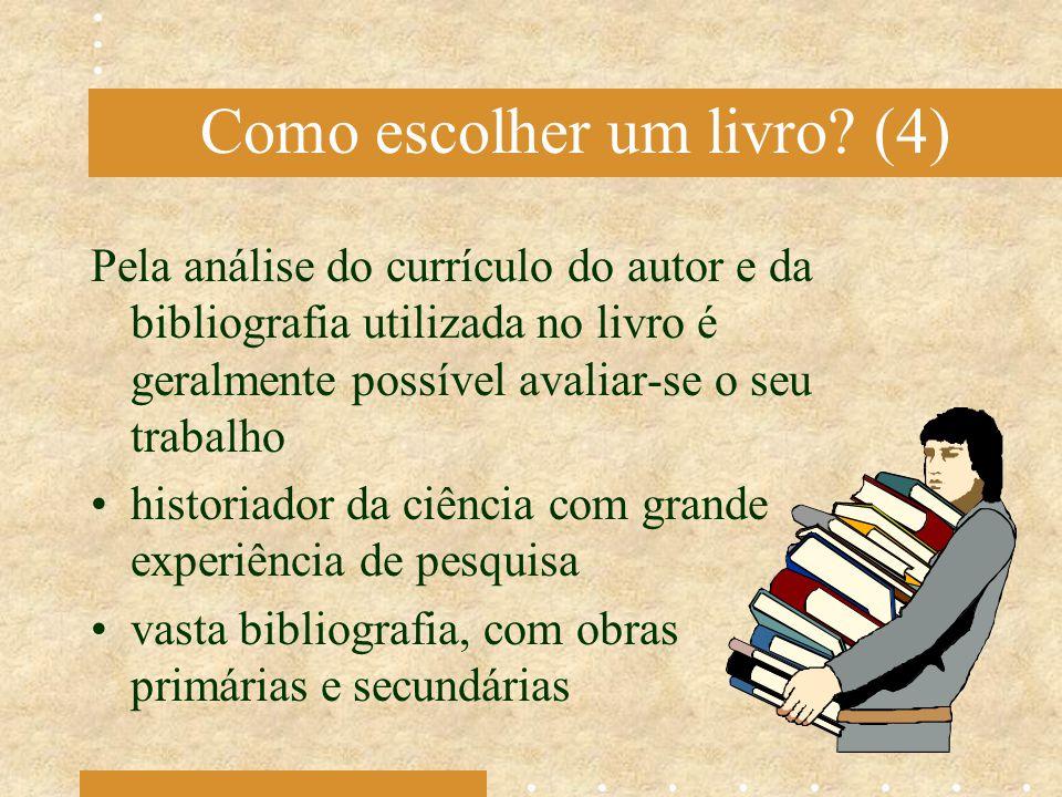 Como escolher um livro (4)