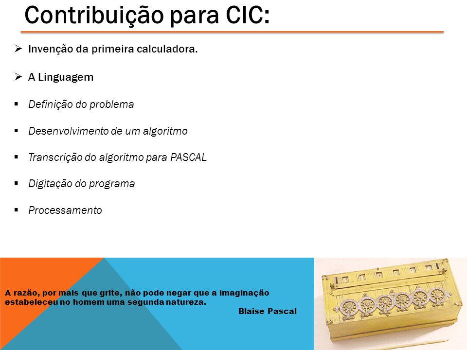 Contribuição para CIC: