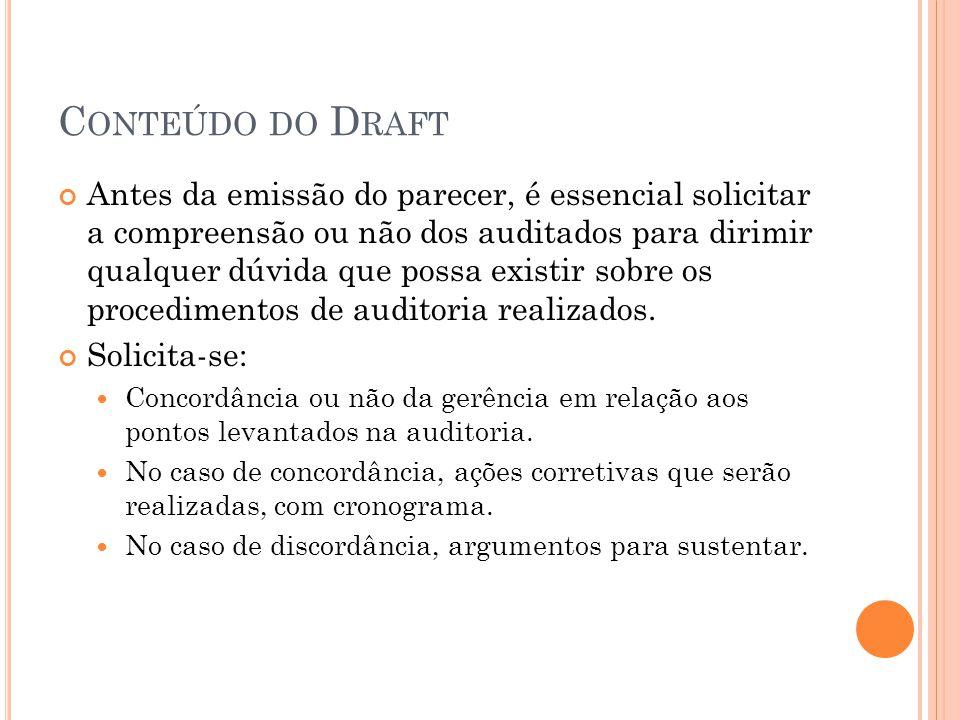 Conteúdo do Draft