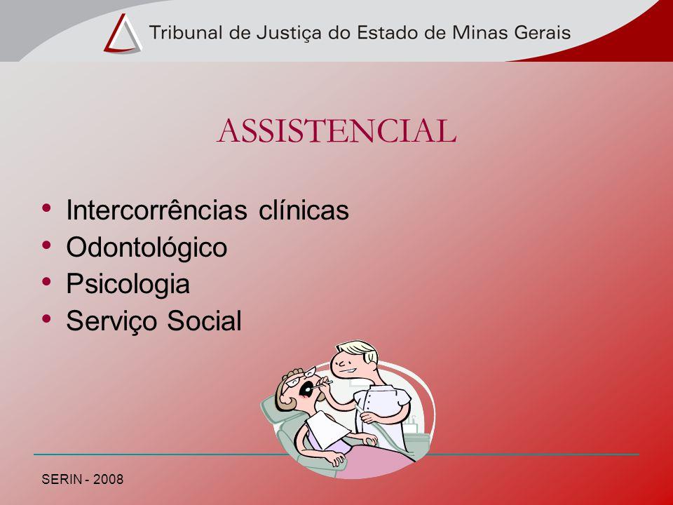 ASSISTENCIAL Intercorrências clínicas Odontológico Psicologia