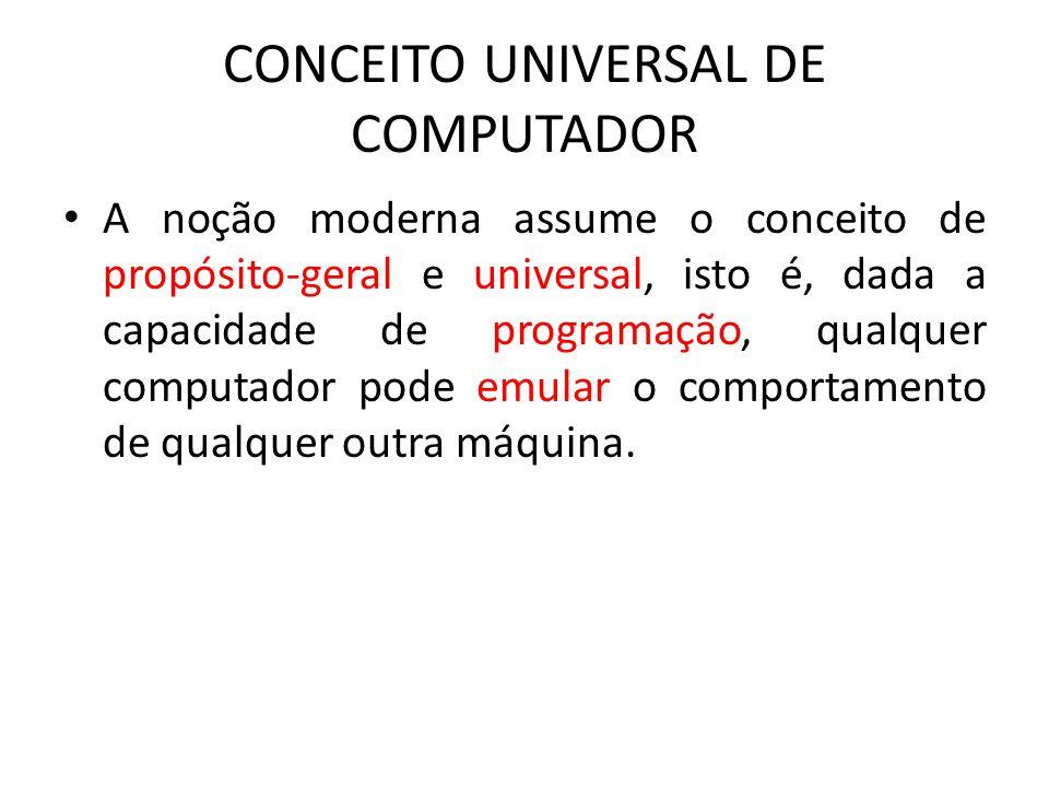 CONCEITO UNIVERSAL DE COMPUTADOR