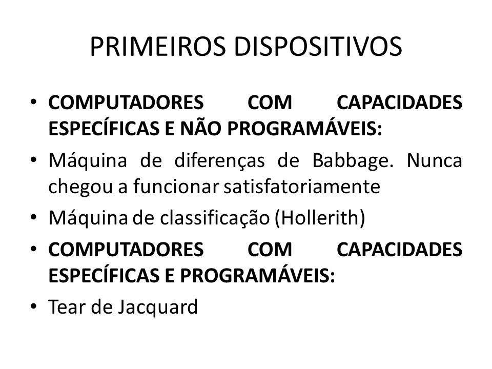 PRIMEIROS DISPOSITIVOS