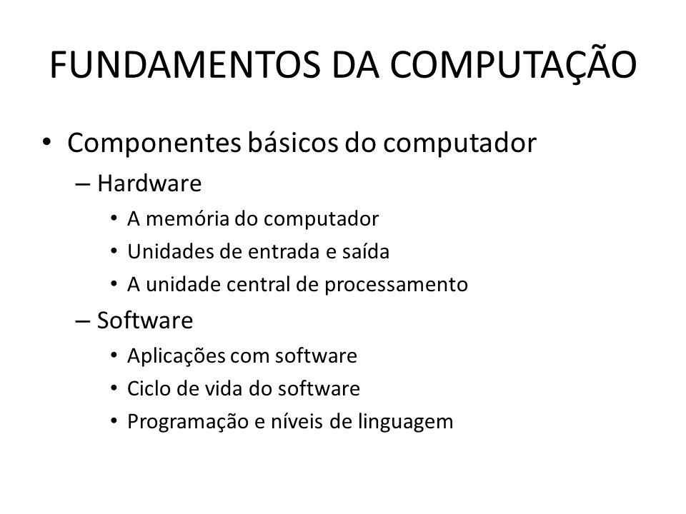 FUNDAMENTOS DA COMPUTAÇÃO