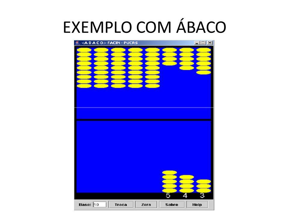 EXEMPLO COM ÁBACO