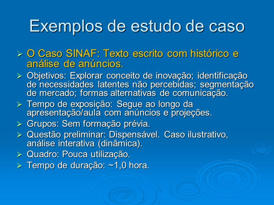 Exemplos de estudo de caso