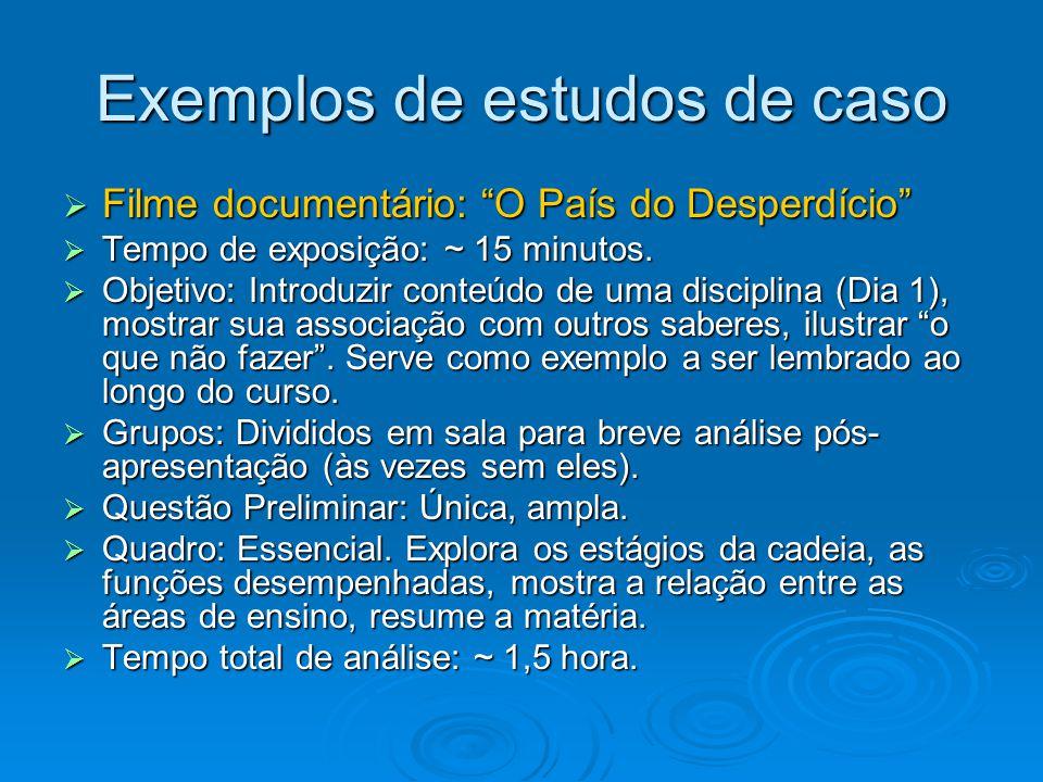 Exemplos de estudos de caso