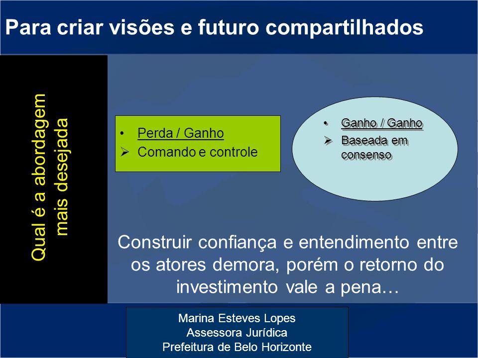 Para criar visões e futuro compartilhados