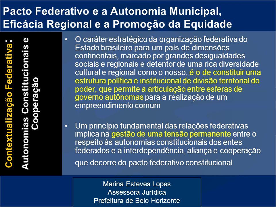 Contextualização Federativa: Autonomias Constitucionais e Cooperação