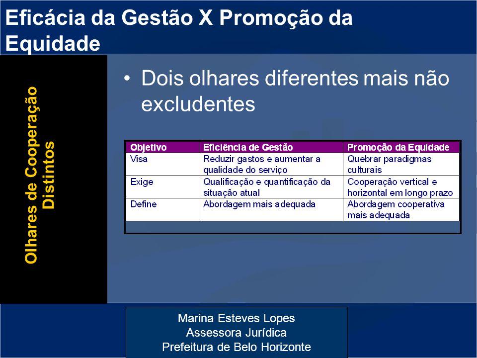 Eficácia da Gestão X Promoção da Equidade