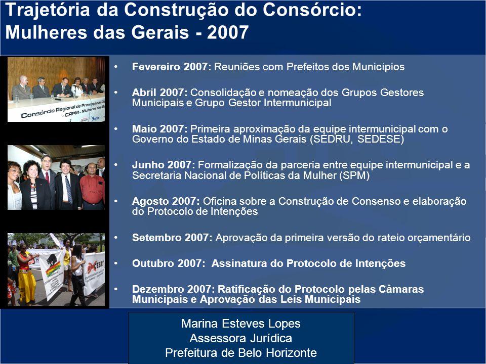 Trajetória da Construção do Consórcio: Mulheres das Gerais - 2007