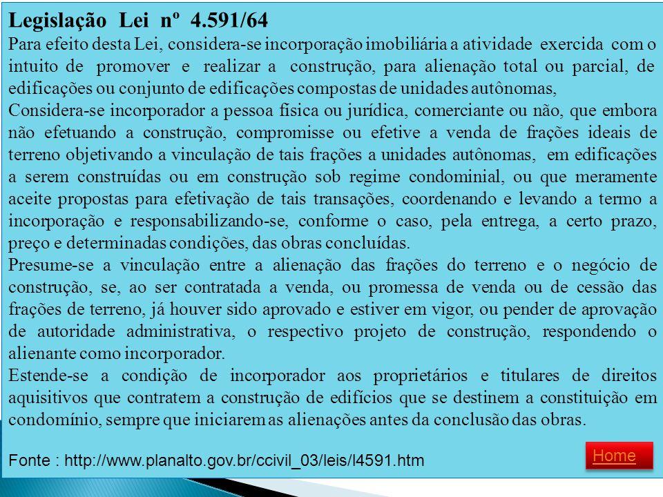 Legislação Lei nº 4.591/64