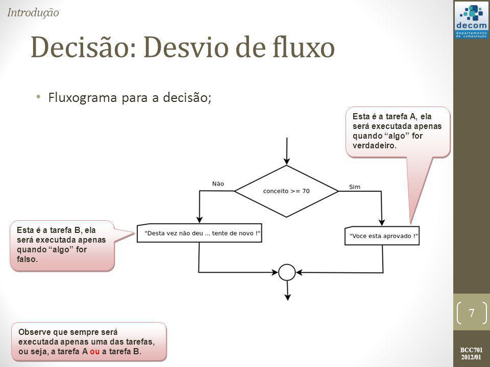 Decisão: Desvio de fluxo