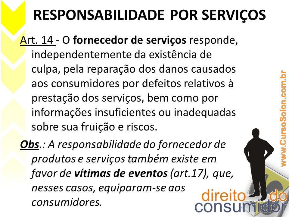 RESPONSABILIDADE POR SERVIÇOS