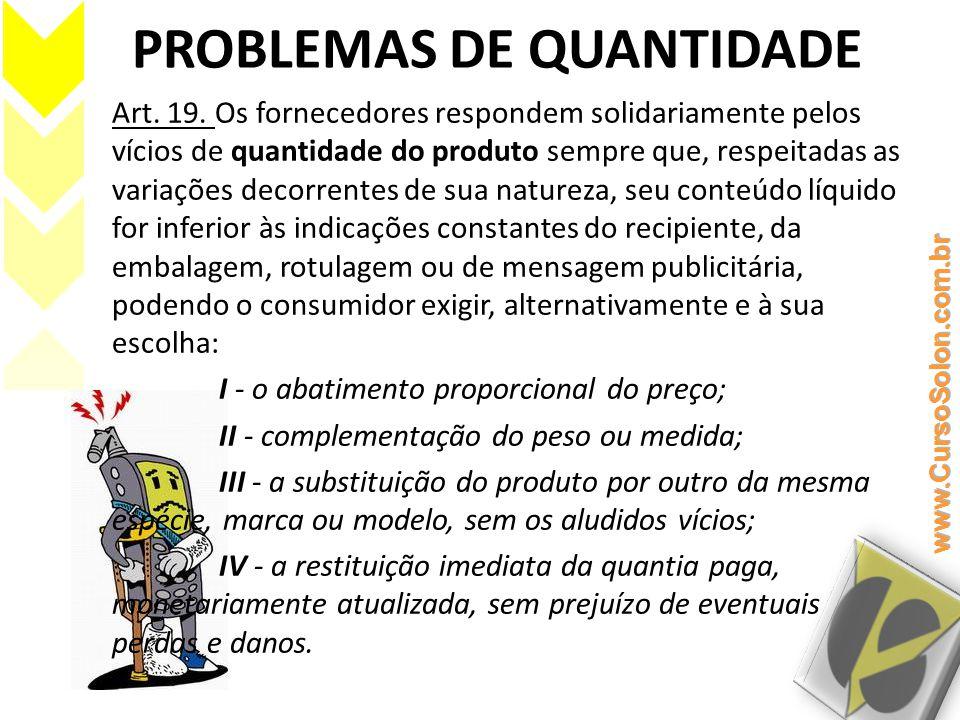 PROBLEMAS DE QUANTIDADE
