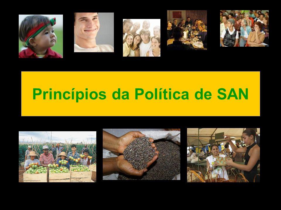 Princípios da Política de SAN