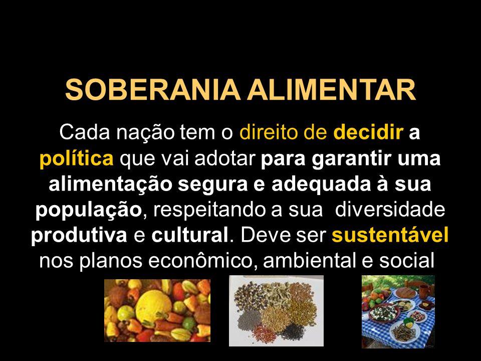 SOBERANIA ALIMENTAR