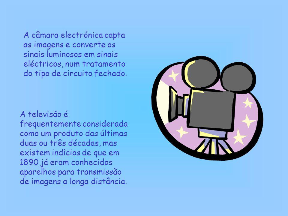 A câmara electrónica capta as imagens e converte os sinais luminosos em sinais eléctricos, num tratamento do tipo de circuito fechado.