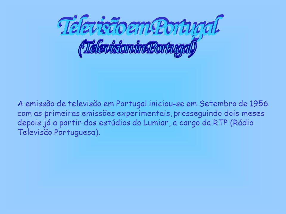 (Television in Portugal)
