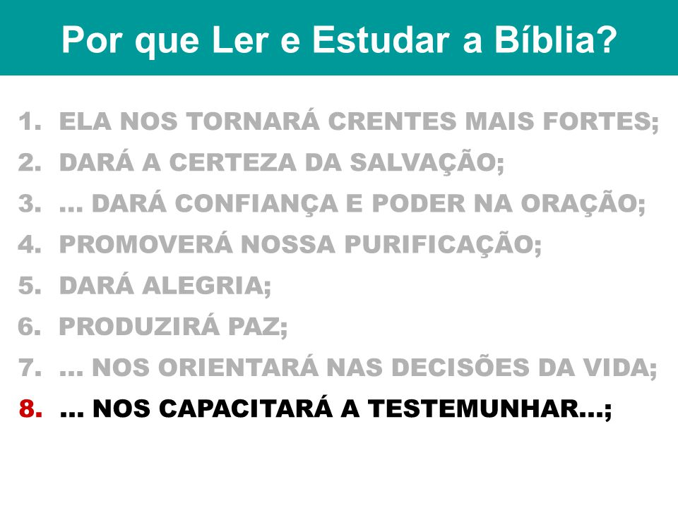Por que Ler e Estudar a Bíblia