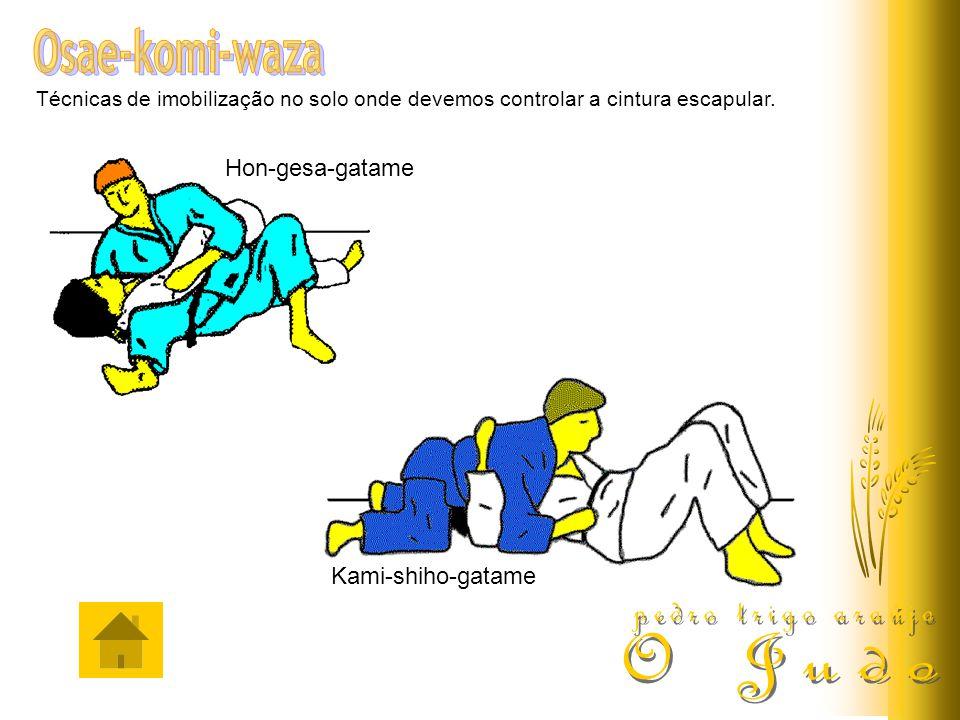 Osae-komi-waza pedro trigo araújo O Judo Hon-gesa-gatame