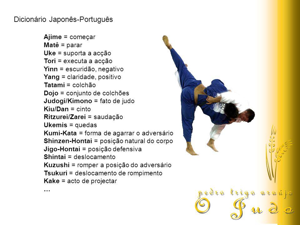 pedro trigo araújo O Judo Dicionário Japonês-Português Ajime = começar