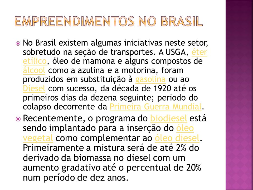 Empreendimentos no Brasil