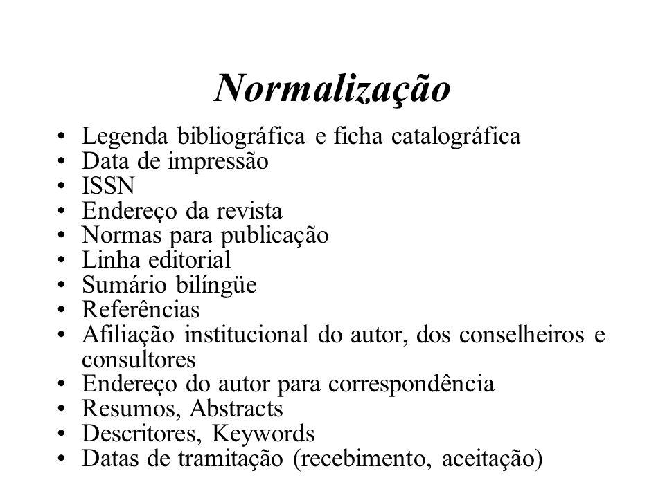 Normalização Legenda bibliográfica e ficha catalográfica