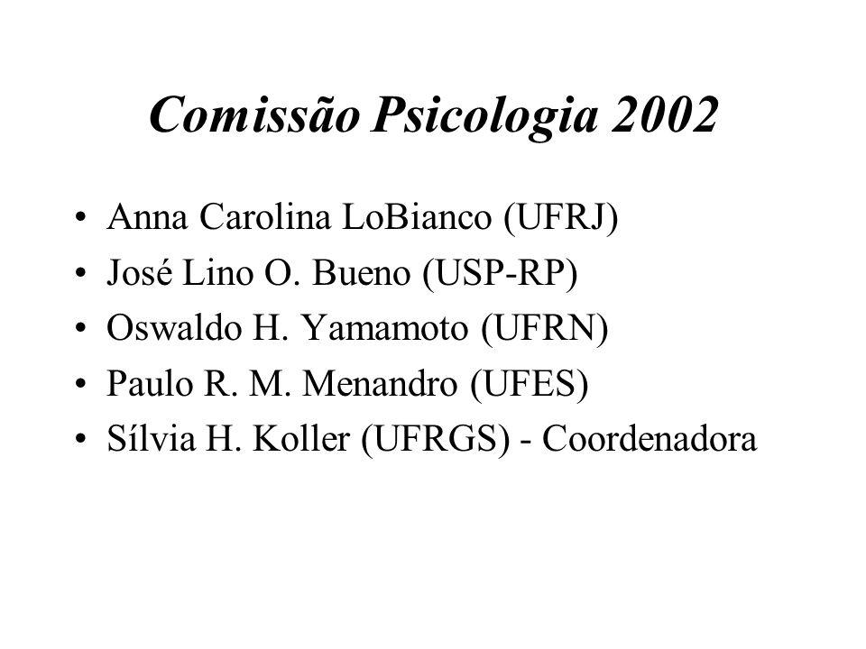 Comissão Psicologia 2002 Anna Carolina LoBianco (UFRJ)