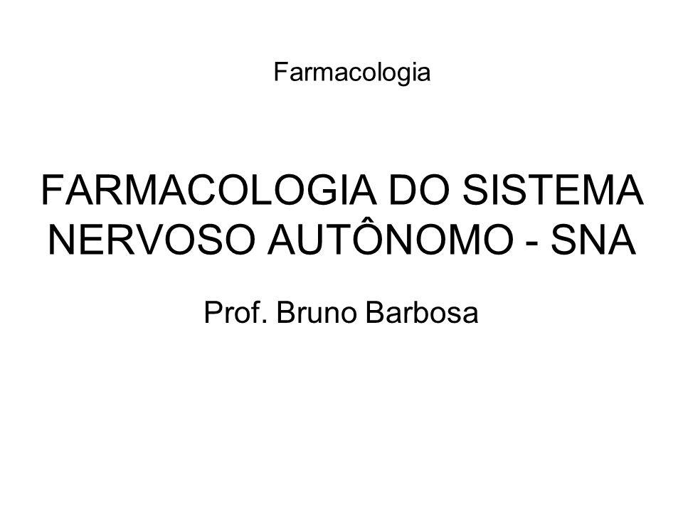 FARMACOLOGIA DO SISTEMA NERVOSO AUTÔNOMO - SNA