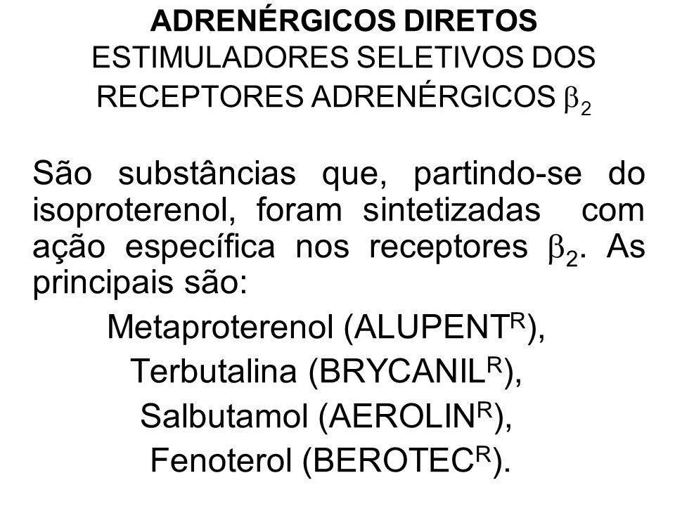 Metaproterenol (ALUPENTR), Terbutalina (BRYCANILR),