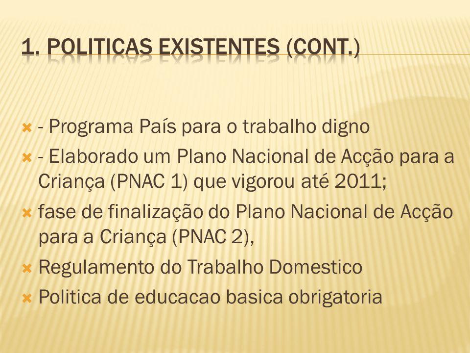 1. Politicas Existentes (cont.)