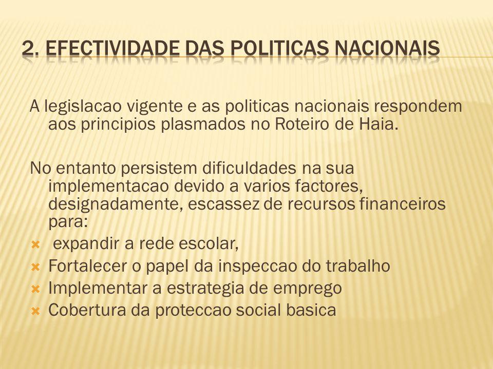 2. Efectividade das politicas nacionais