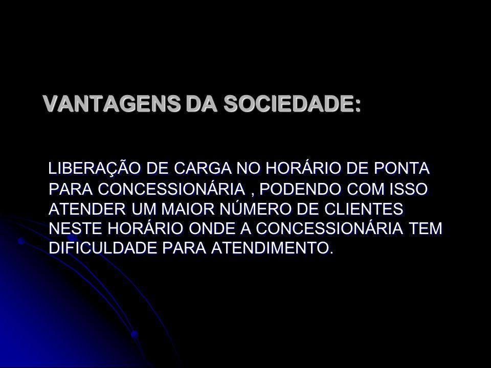 VANTAGENS DA SOCIEDADE: