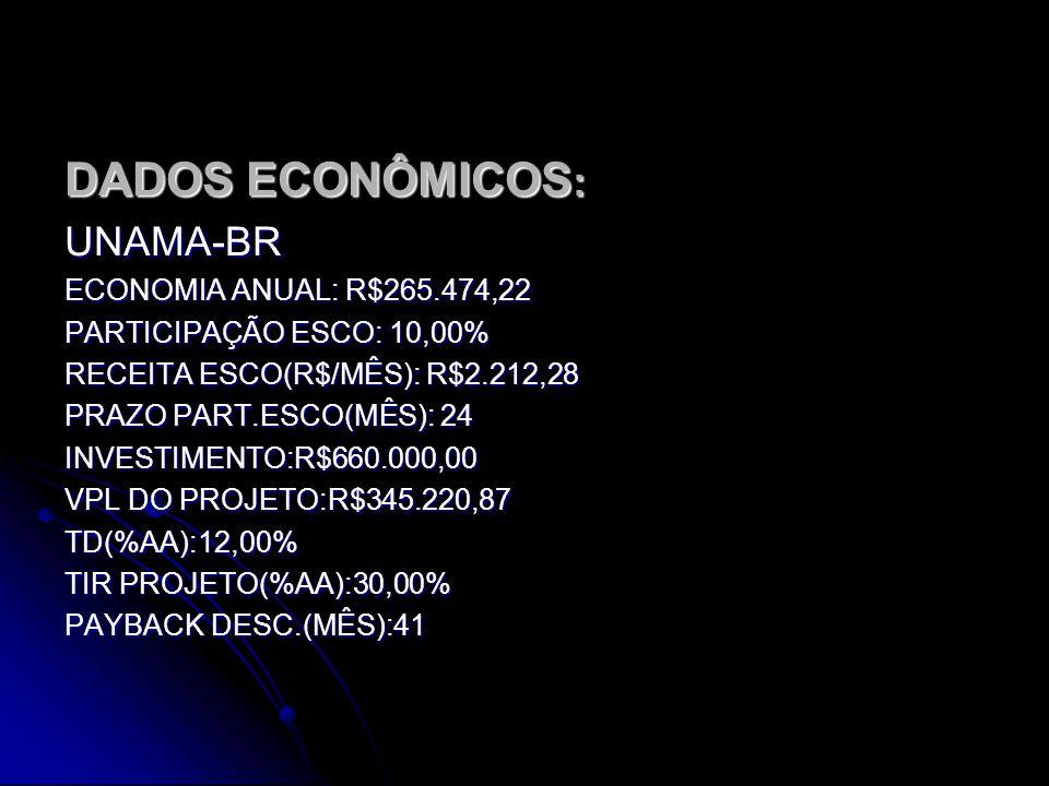 DADOS ECONÔMICOS: UNAMA-BR ECONOMIA ANUAL: R$265.474,22