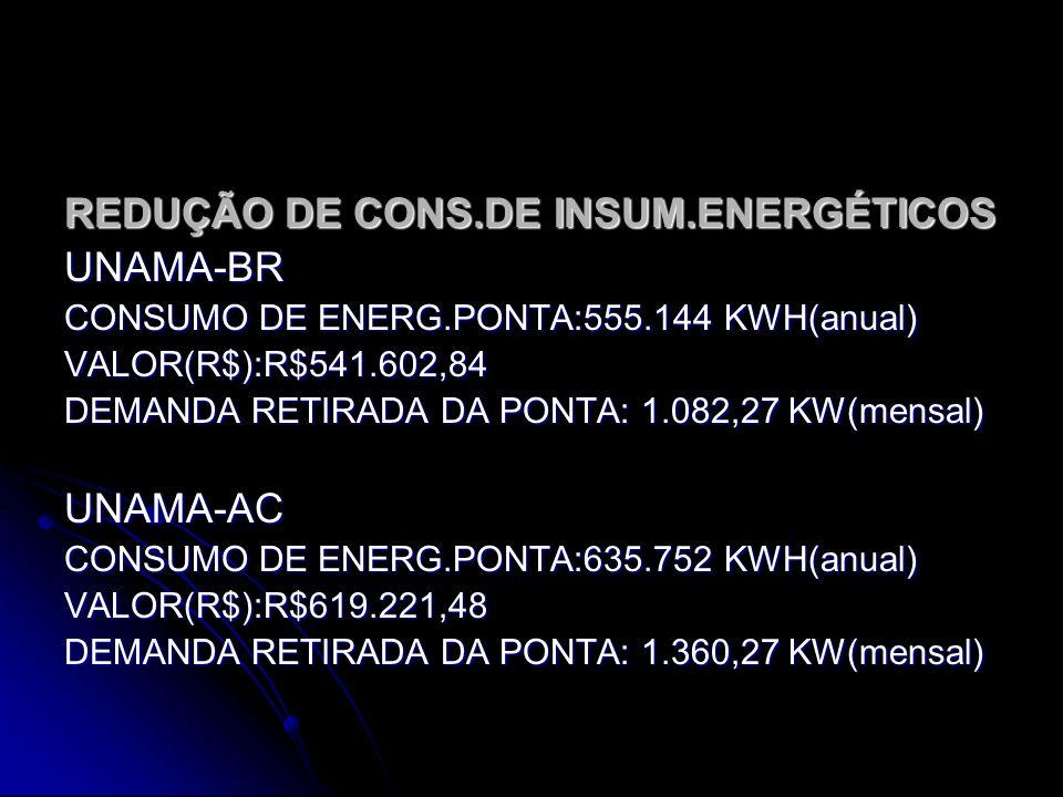 REDUÇÃO DE CONS.DE INSUM.ENERGÉTICOS UNAMA-BR