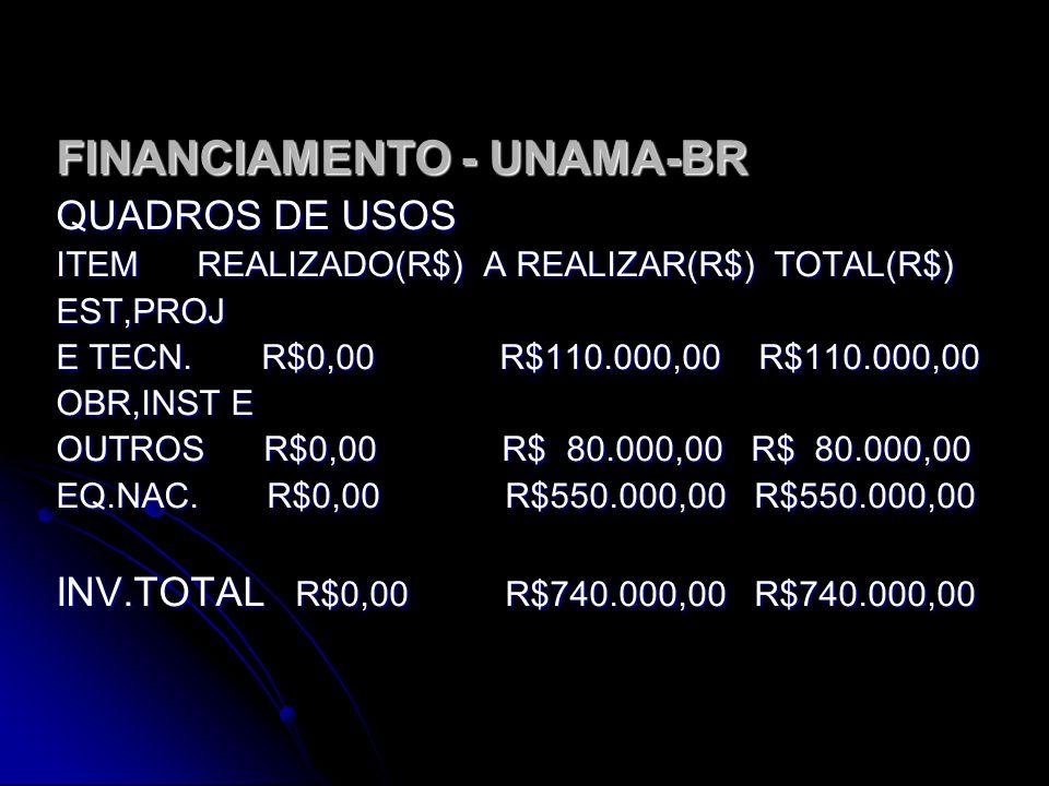 FINANCIAMENTO - UNAMA-BR
