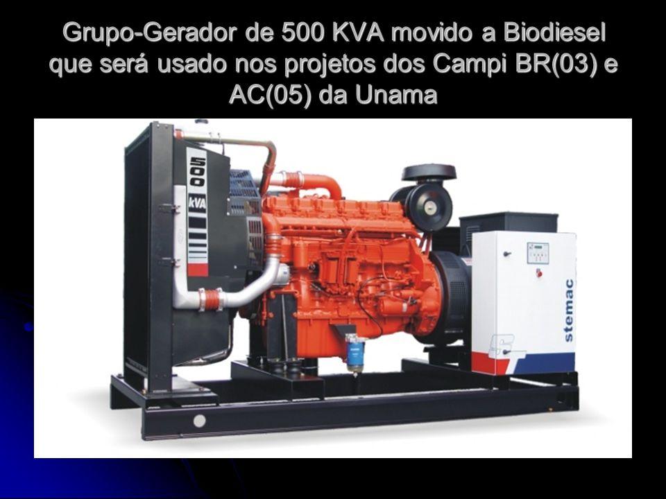 Grupo-Gerador de 500 KVA movido a Biodiesel que será usado nos projetos dos Campi BR(03) e AC(05) da Unama