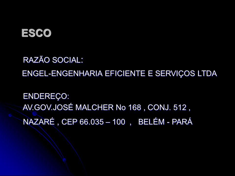 ESCO RAZÃO SOCIAL: ENGEL-ENGENHARIA EFICIENTE E SERVIÇOS LTDA