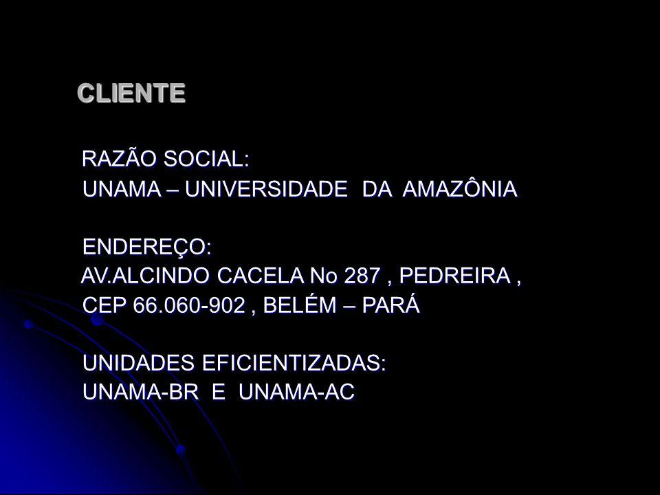 CLIENTE RAZÃO SOCIAL: UNAMA – UNIVERSIDADE DA AMAZÔNIA ENDEREÇO: