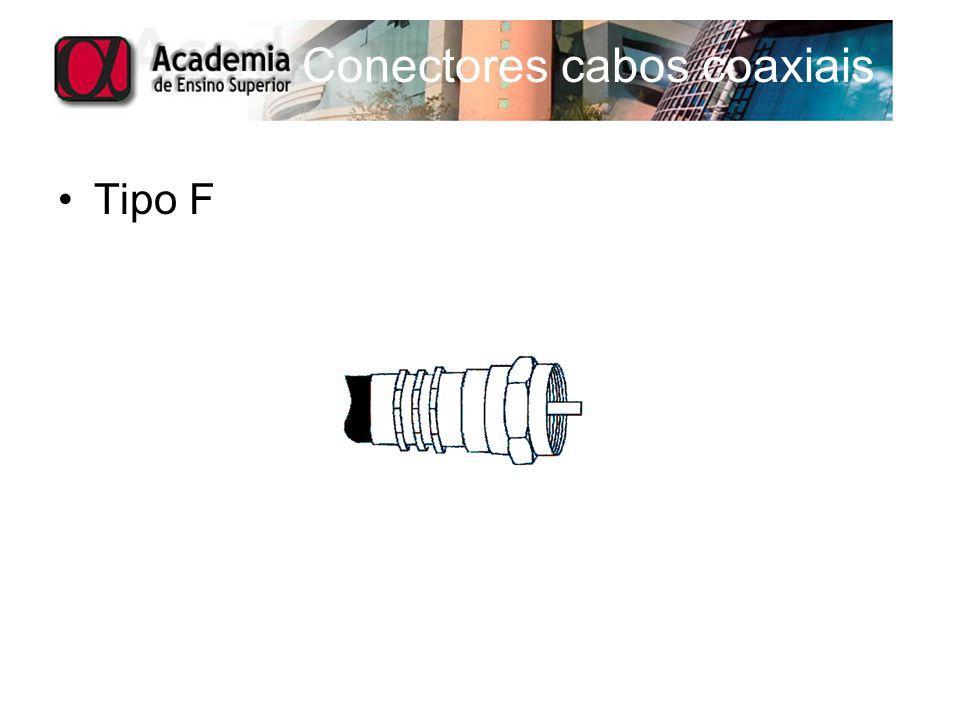 Conectores cabos coaxiais