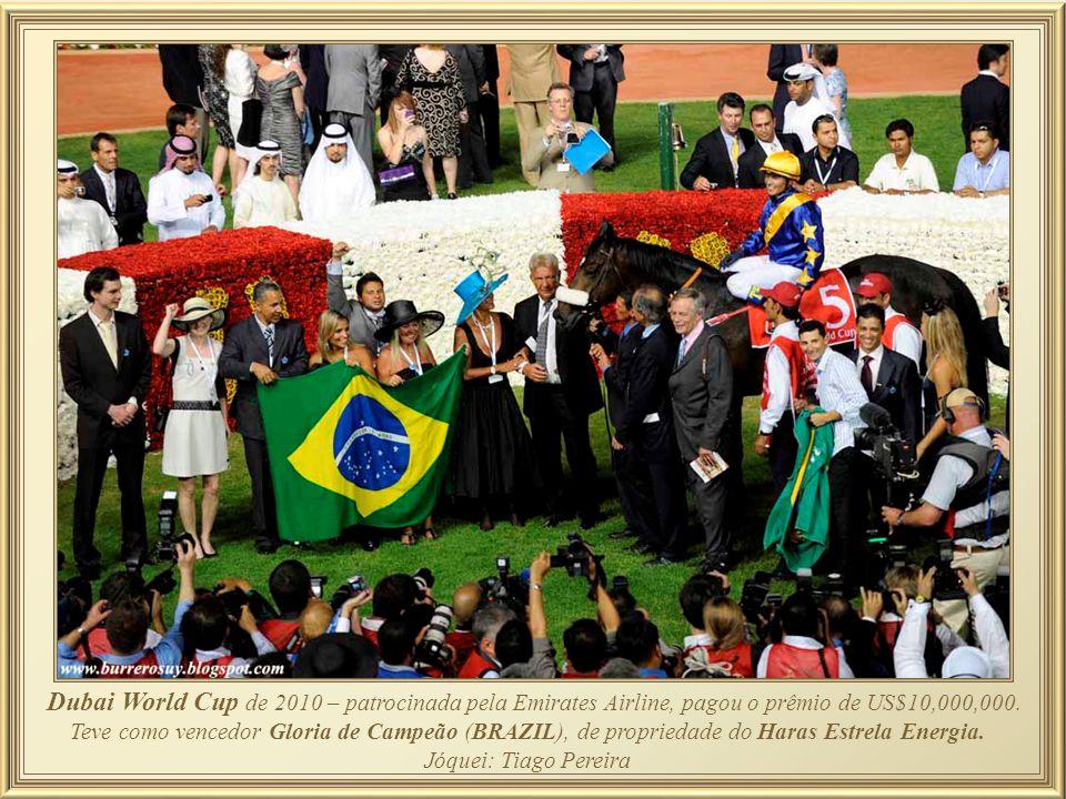 Dubai World Cup de 2010 – patrocinada pela Emirates Airline, pagou o prêmio de US$10,000,000. Teve como vencedor Gloria de Campeão (BRAZIL), de propriedade do Haras Estrela Energia.