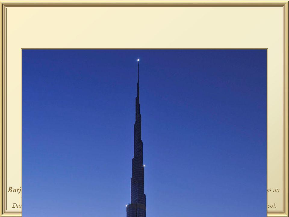 Burj Khallifa – ou Burj Dubai , possui sistema de 57 elevadores dos quais só os poucos que operam na velocidade de 11 m./seg param no térreo, no topo, e nos andares 43, 76 e 123 para baldeação.
