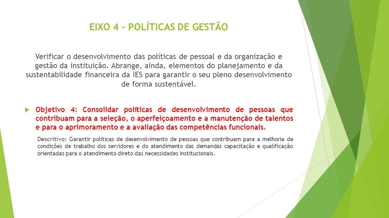 EIXO 4 – POLÍTICAS DE GESTÃO