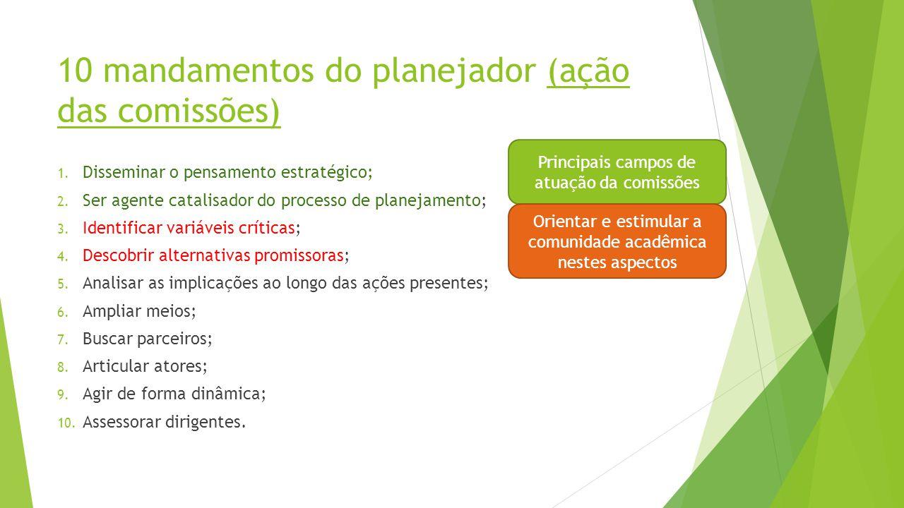 10 mandamentos do planejador (ação das comissões)