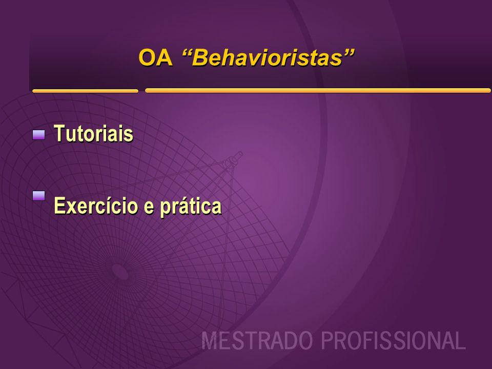 OA Behavioristas Tutoriais Exercício e prática