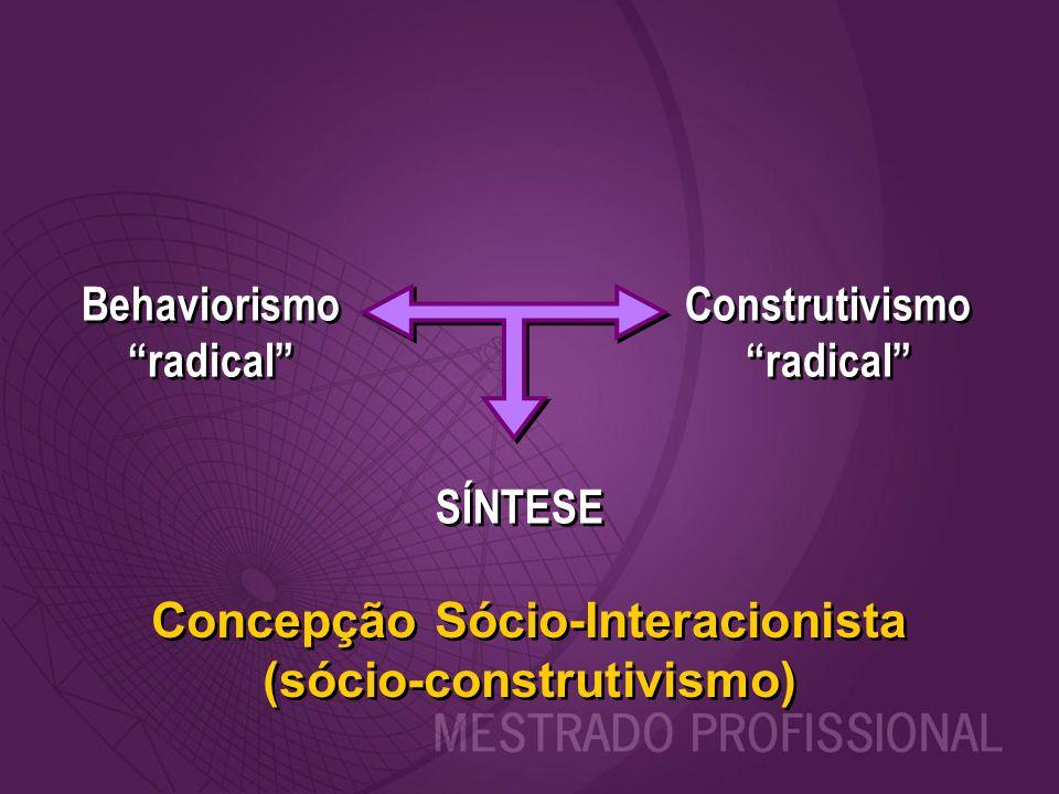 Concepção Sócio-Interacionista (sócio-construtivismo)