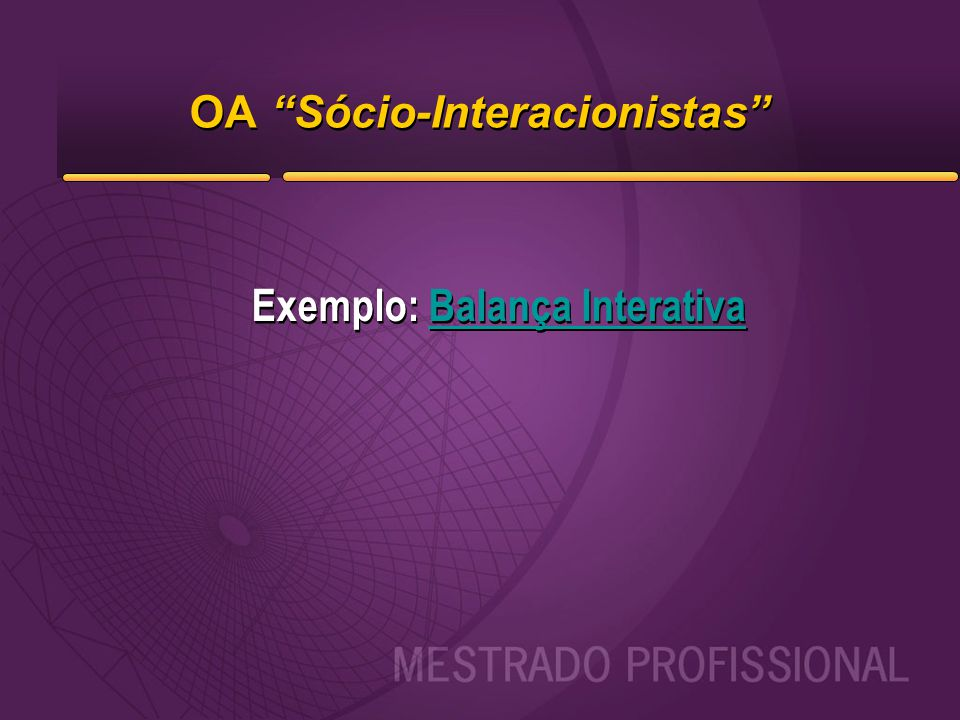 OA Sócio-Interacionistas