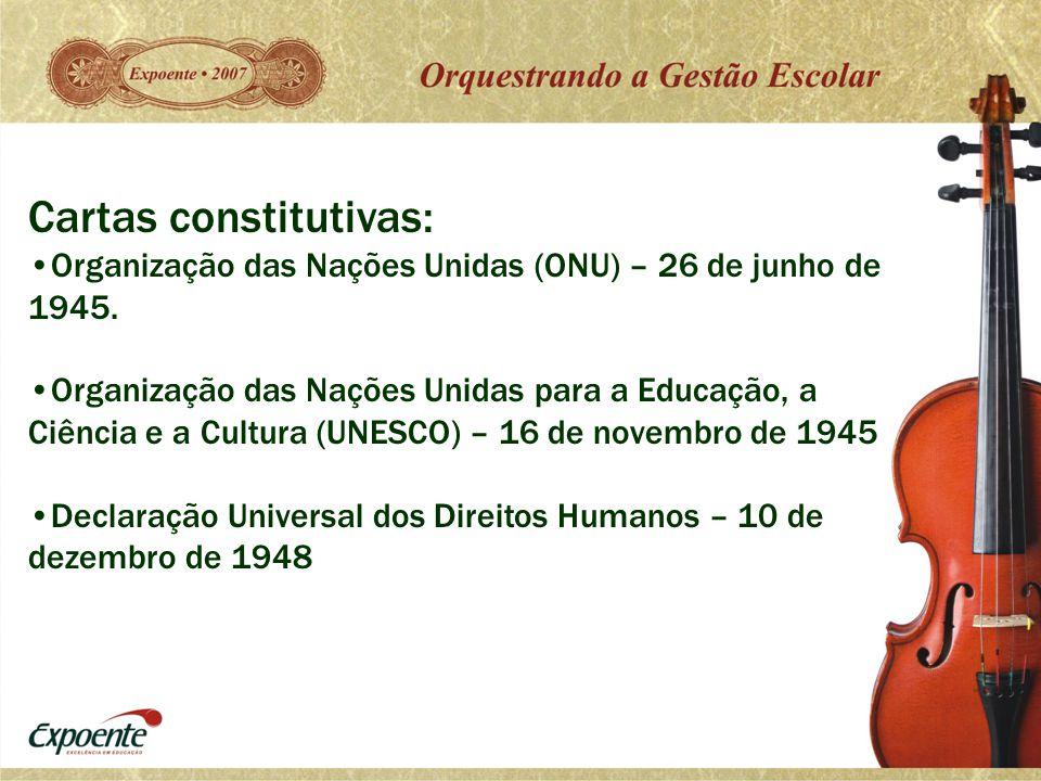 Cartas constitutivas:
