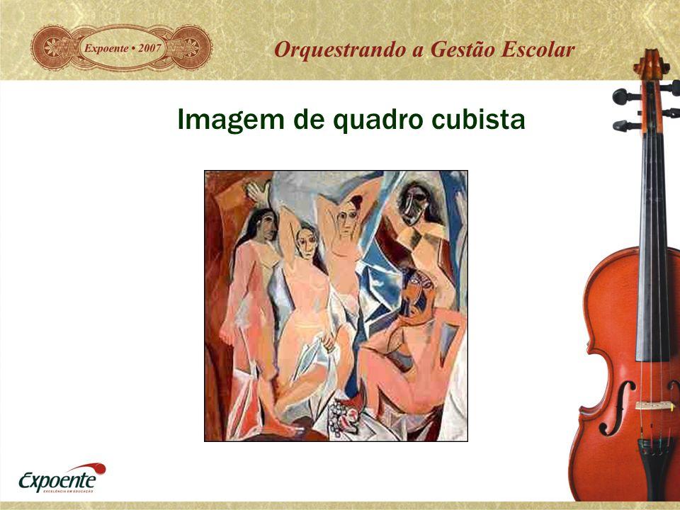 Imagem de quadro cubista